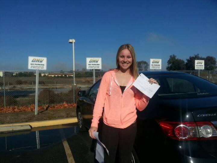 Taylor passed her Drive Test with Drive Happy!