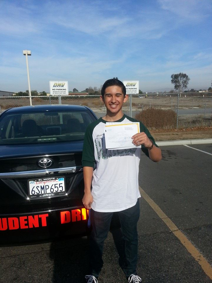 Stanley passes his Drive Test with Drive Happy in Temecula