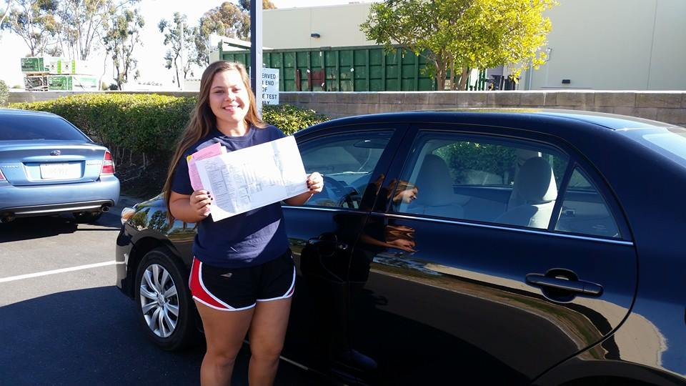 Drive Happy student Maddie passes the Drive Test!