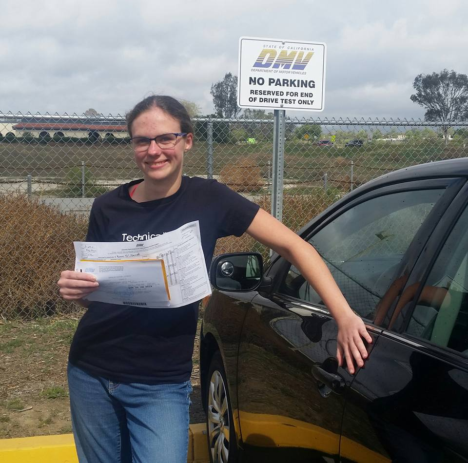 Emma passes the DMV Drive Test in Temecula with Drive Happy!