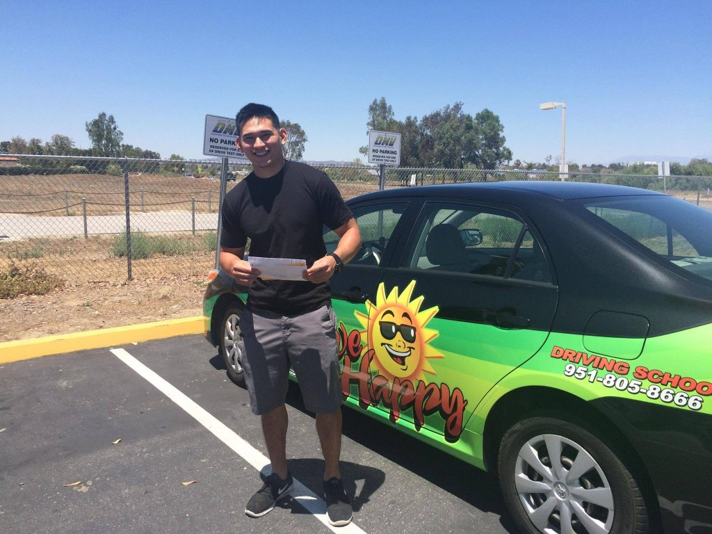 Elika passes the Drive Test at the Temecula DMV with Drive Happy!