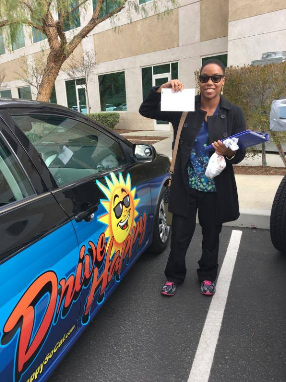 Congratulations to Rosezena! She took driving lessons with Bree and pass her Drive Test this afternoon!