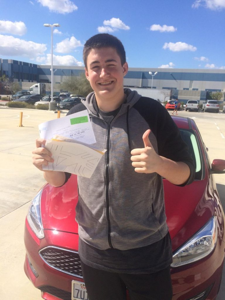 Bryce passes the Drive Test at Drive Happy!