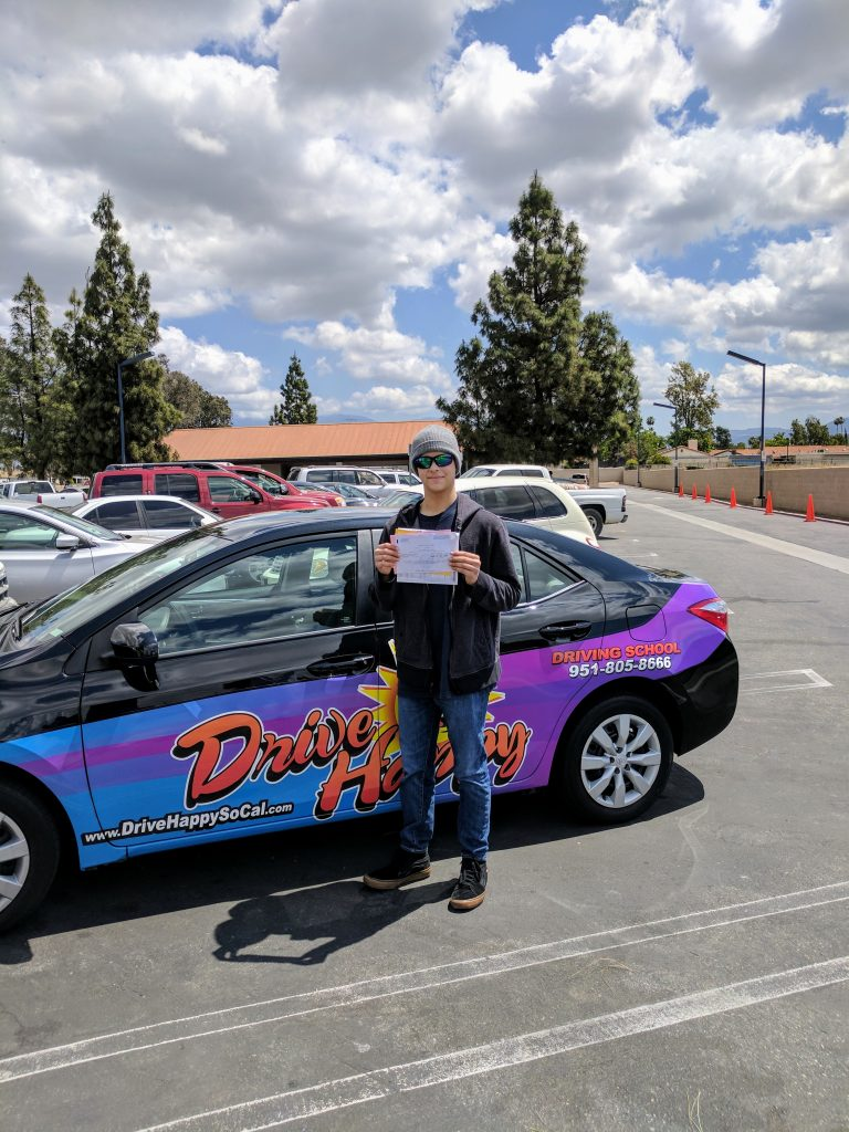 Drive Happy student Jonathan passes the DMV Drive Test!