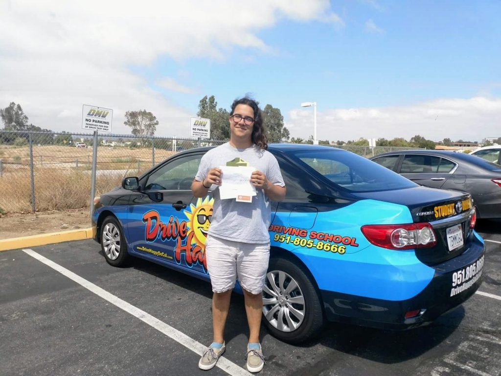 Ryley from Murrieta passes the DMV Drive Test in Temecula with Drive Happy