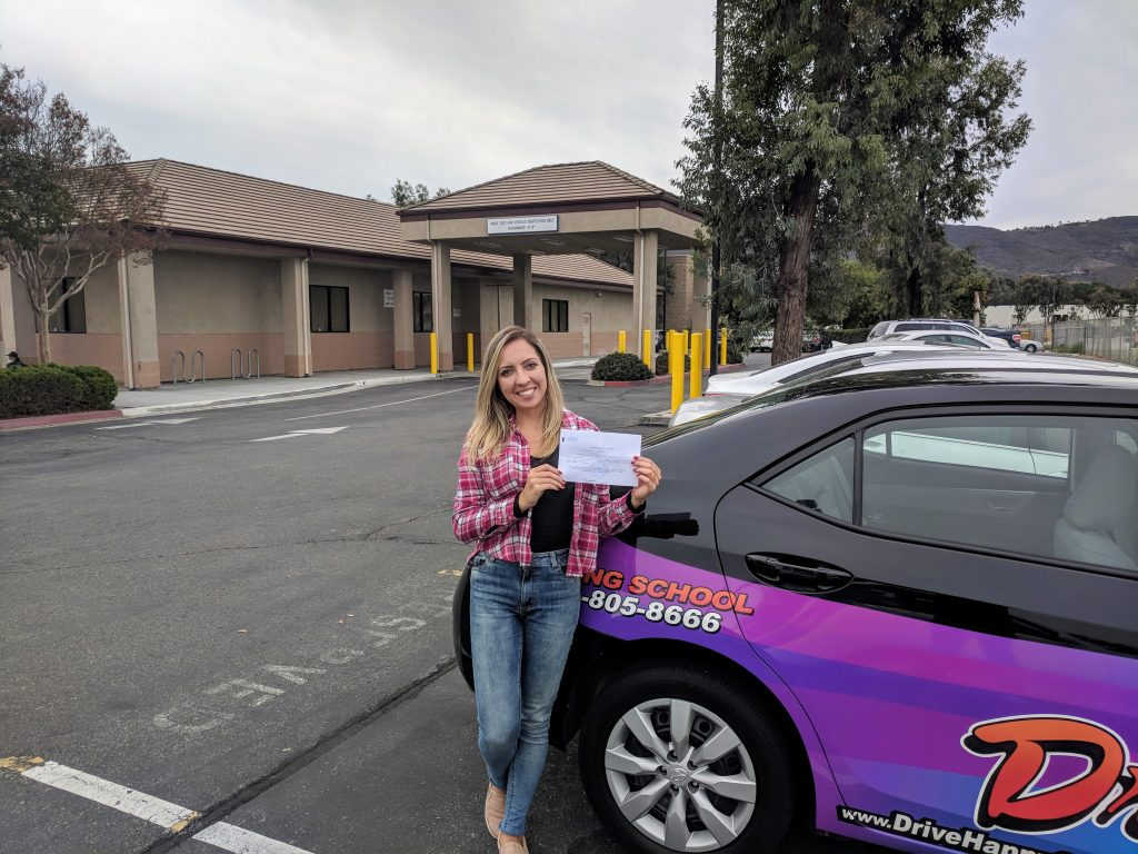 Congratulations Lari! She took driving lessons with Josh and passed her DMV Drive Test this morning at the Temecula DMV!