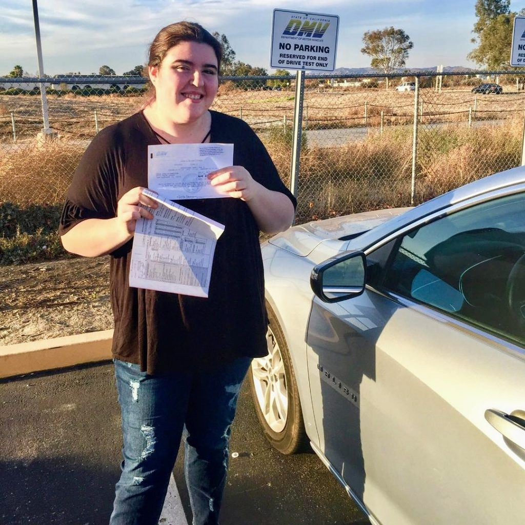 Carly From Lake Elsinore Passes The DMV Drive Test With Drive Happy!