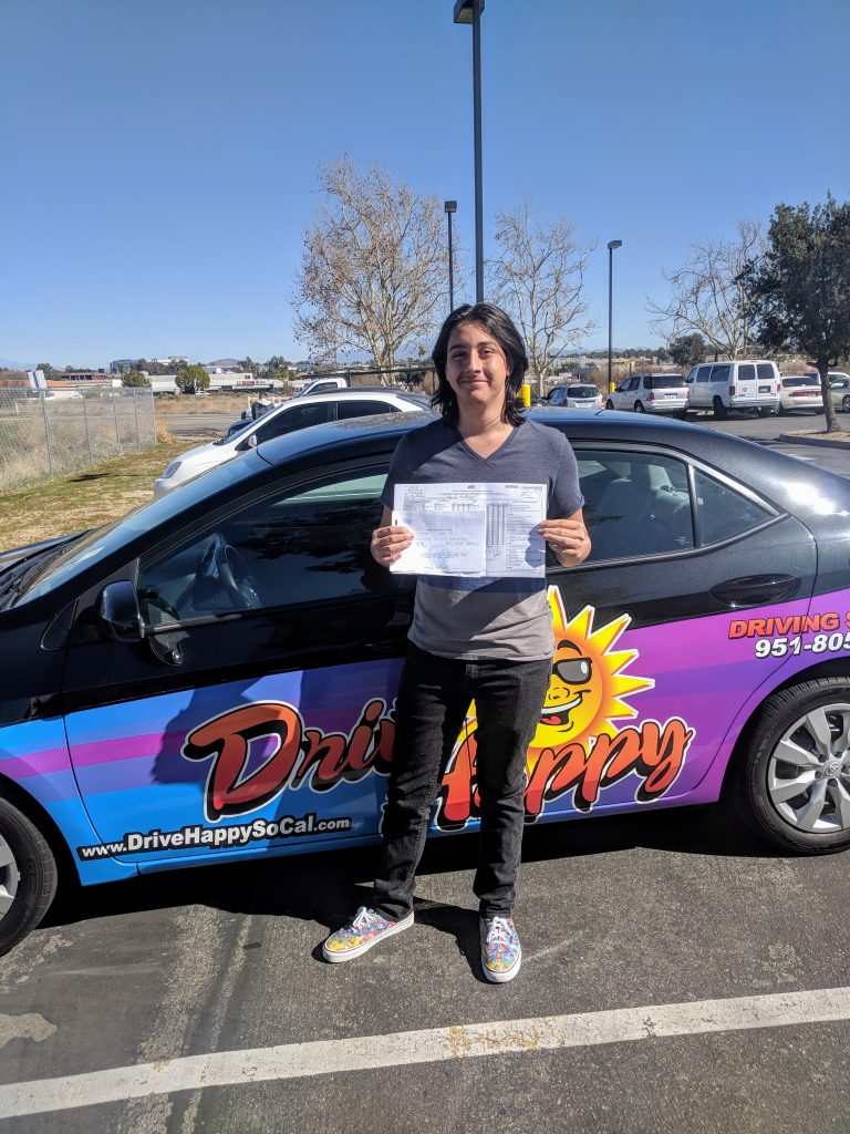 Congratulations to Samual from Canyon Lake! He took driving lessons with Josh and passed the DMV Drive Test this morning @ Temecula!