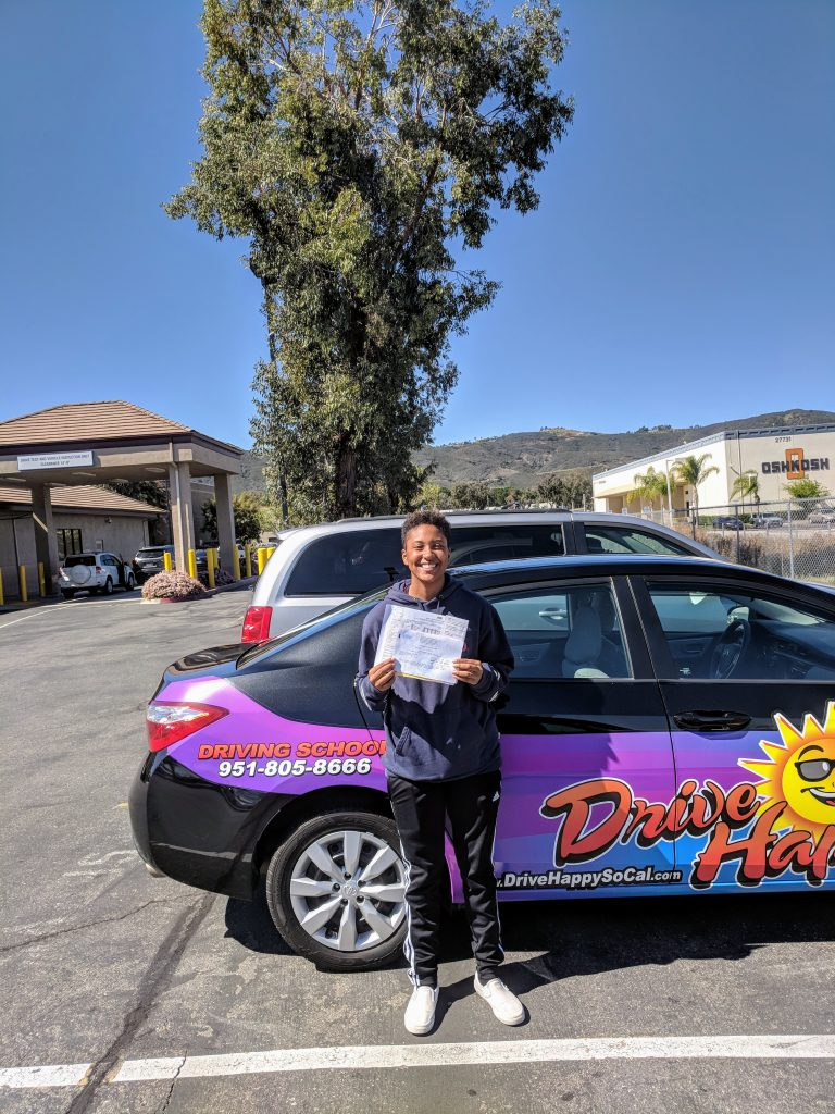 Isabella from Wildomar took driving lessons with Josh and passed her DMV Drive Test on Tuesday with Drive Happy