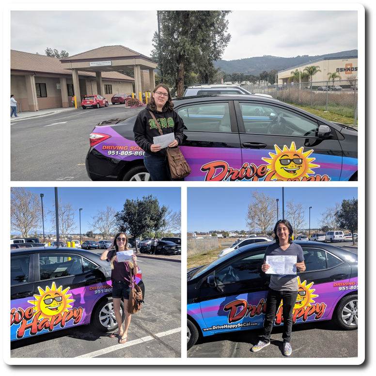 Drive Happy students pass the DMV Drive Test in Temecula!