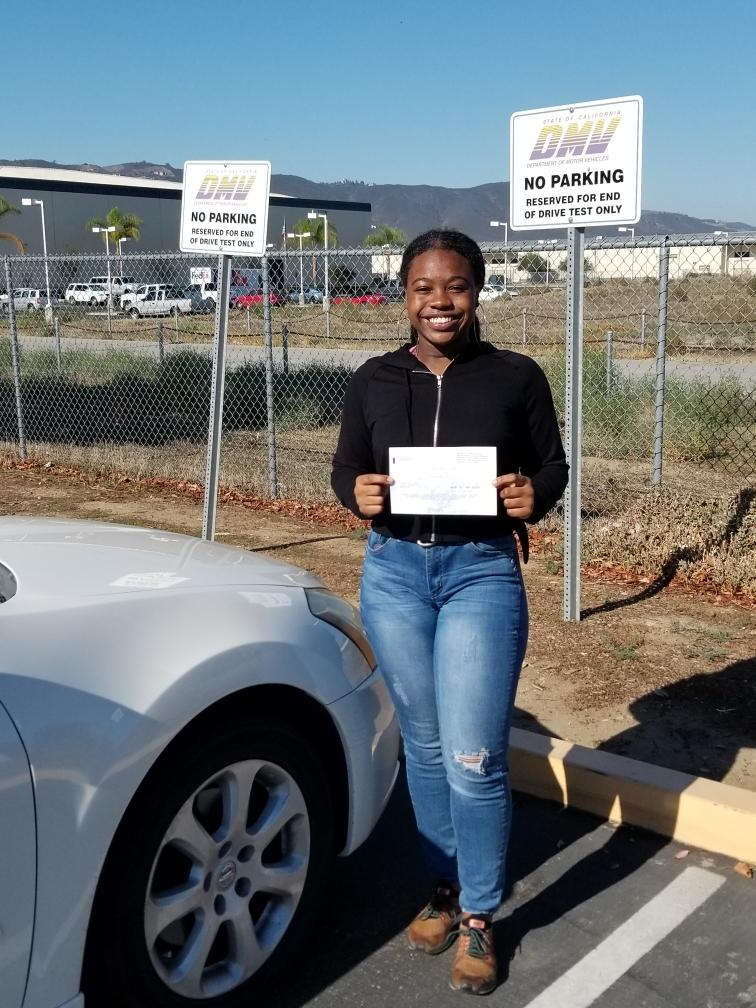 Drive Happy student Sasha passed her DMV Drive Test!
