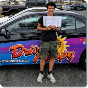 David from Murrieta passes the Drive Test with Drive Happy