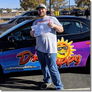 Jonathon passes the Drive Test with Drive Happy