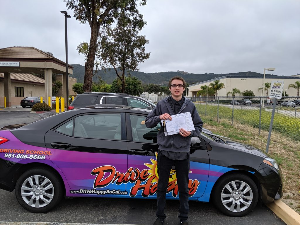 Camden from Murrieta passes the DMV Drive Test with Drive Happy